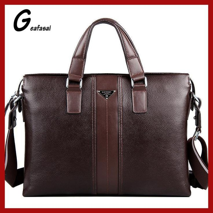 Geafasai P.kuone Brand Key Comprar Cupones Gratis Holders For Coupons Male Magazine Laptop Brown Leather Messenger Shoulder Bag
