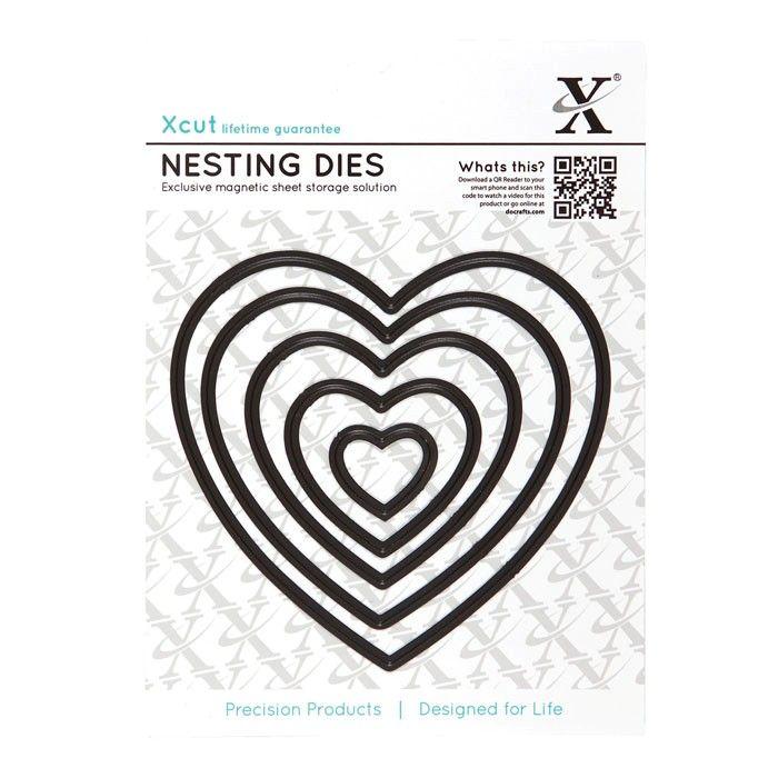 Srdce hladké - vyřezávací kovové šablony Xcut (5ks)   Davona