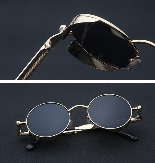 Steampunk Sunglasses - Round Victorian Gothic Style. Vintage, Masculine, Elegant