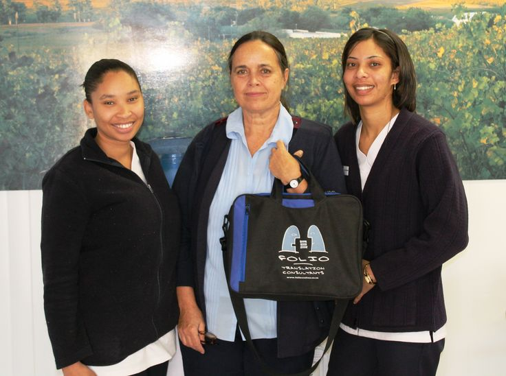 Three staff members of Empilisweni Clinic, runners-up in Folio InterTel's July 2015 competition.
