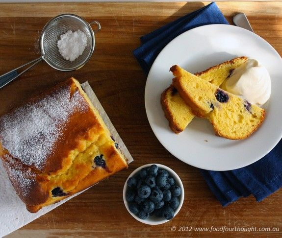 Blueberry, lemon, yoghurt cake