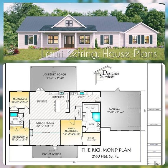 The Richmond Plan Ranch Style House Plans New House Plans One Level House Plans