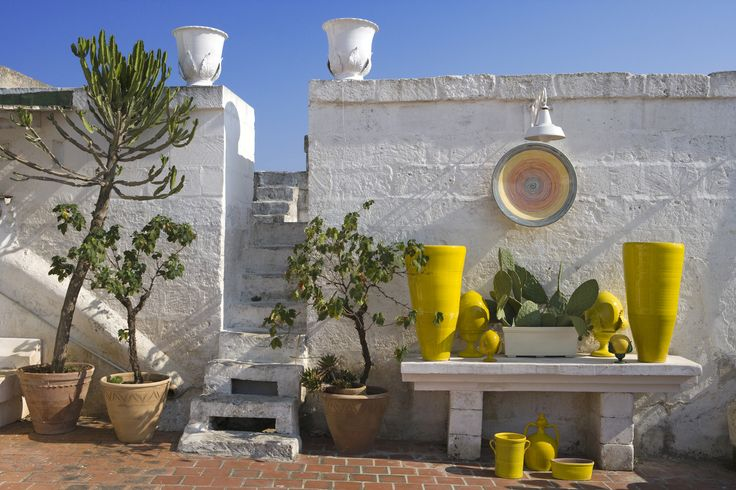 Stunning yellow ceramics #puglia Enza Fasano | Collection