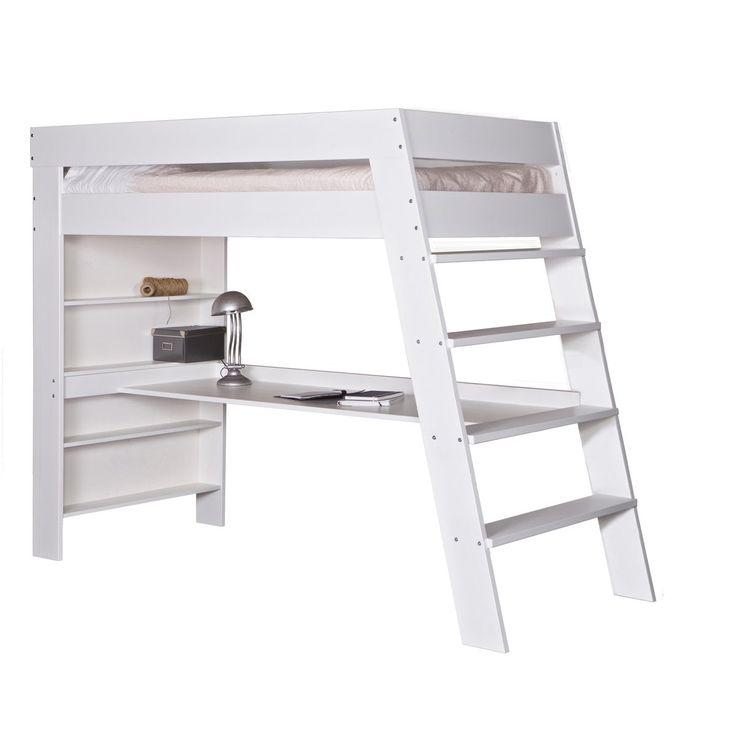 lit mezzanine avec bureau elose blanc alfred et compagnie prix avis notation