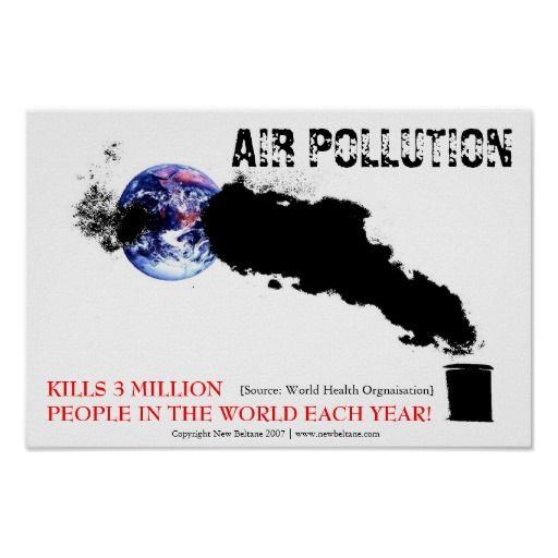 Air Pollution Posters This artwork is relevant to Da Vinci because it shows how industry production affects the earth.  I like how the smoke wraps around the earth. It represents air pollution all over the world and not just in one place.  The artwork inspires me because it is a creative way of showing air pollution as a whole.