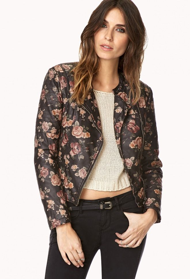 Romantic and edgy all at once #MotoJacket #Forever21