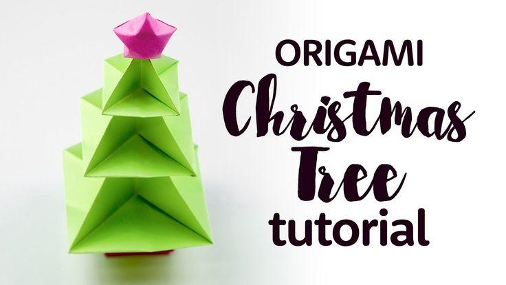 Origami Christmas Tree Tutorial 🎄 DIY 🎄 Paper Kawaii