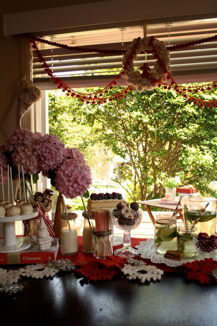 Christmas dessert table. www.meiandmaytheblog.blogspot.com
