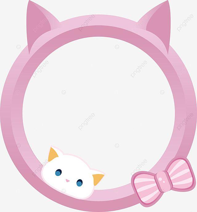 กรอบร ปการ ต น Wechat แมว การ ต น แมว กรอบร ป Wechatภาพ Png และ เวกเตอร สำหร บการดาวน โหลดฟร แมว การ ต น ล กแมว