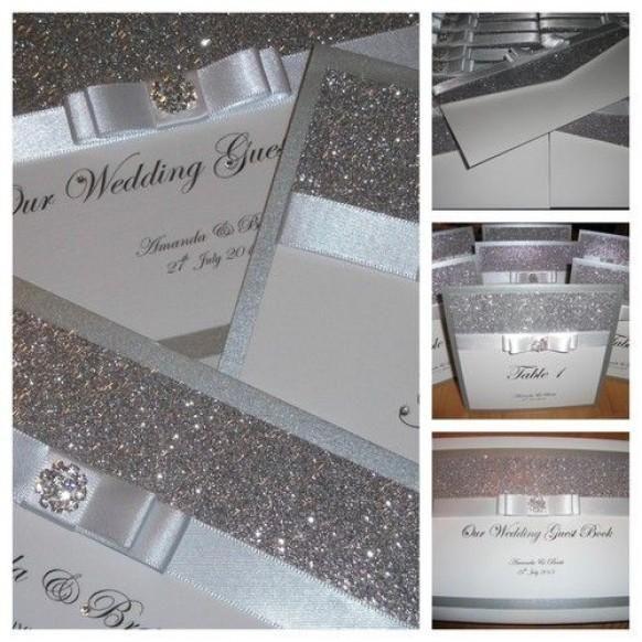 Handmade Couture-Hochzeits-Einladungen Der Hollywood Kristall x 1 Probe