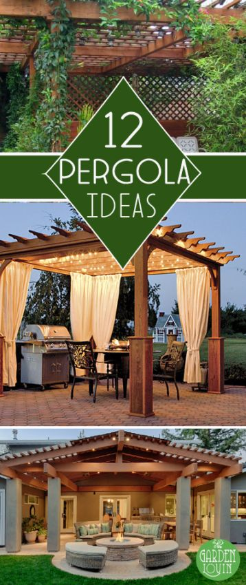 A pergola provides the perfect combination of style and function for any backyard dinner or party.  Check out these DIY ideas!