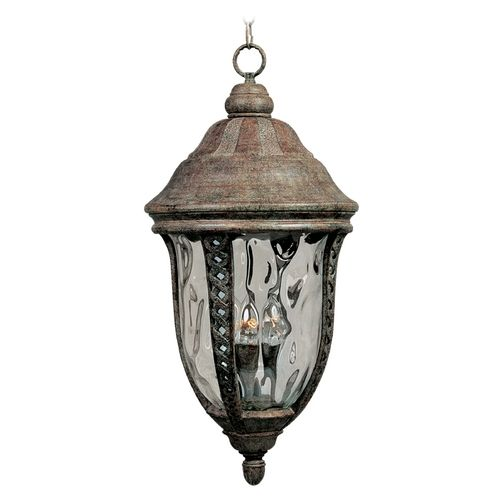 Outdoor Hanging Light with Clear Glass in Earth Tone Finish | 3111WGET | Destination Lighting