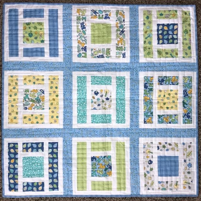 Lillian and Oliver Baby Quilt Kit- Blue | sew awesome