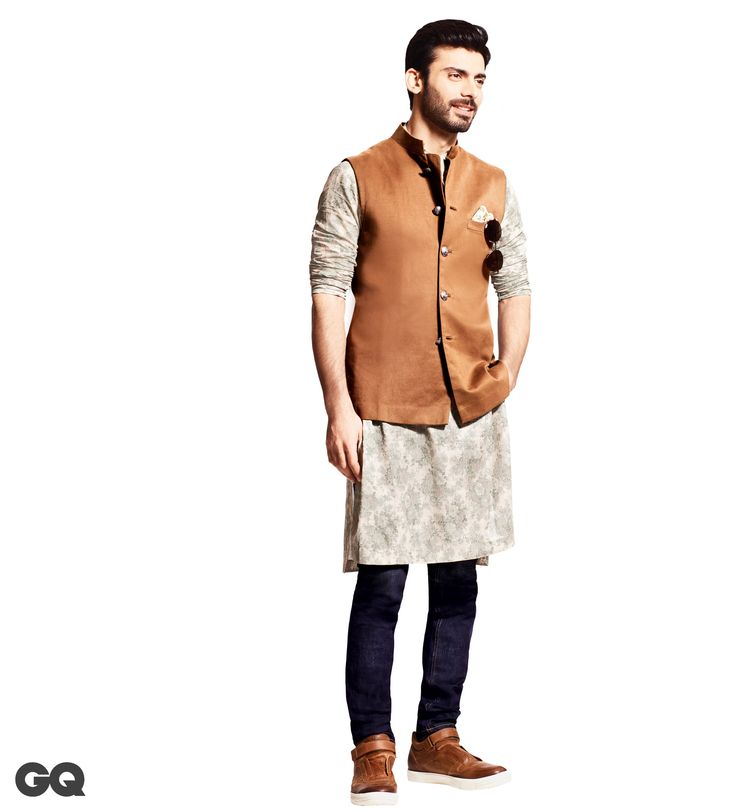 Bundi, kurta, pocket square, Prices on request; All by Sabyasachi. Sunglasses by Giorgio Armani, Rs 20,000. Jeans by Jack & Jones, Rs 3,500. Trainers By Tod's, Rs 38,000