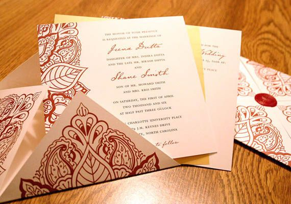 Hence all kinds of wedding invitation cards India witnesses like Islamic wedding, Sikh wedding cards, Hindu cards and many more. No matter what the religion is one can expect intricate and stunning styles.