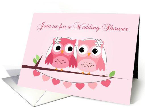 lesbian wedding shower ideas pink owls lesbian bridal shower invitation card pink