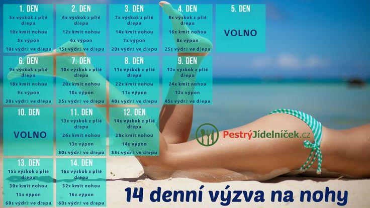 14denní výzva na nohy | PestrýJídelníček.cz