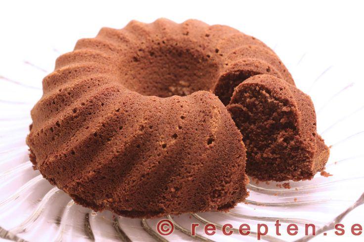 Chokladsockerkaka - Ett recept på en mycket god och saftig chokladsockerkaka som är enkel att göra. Bilder steg för steg.