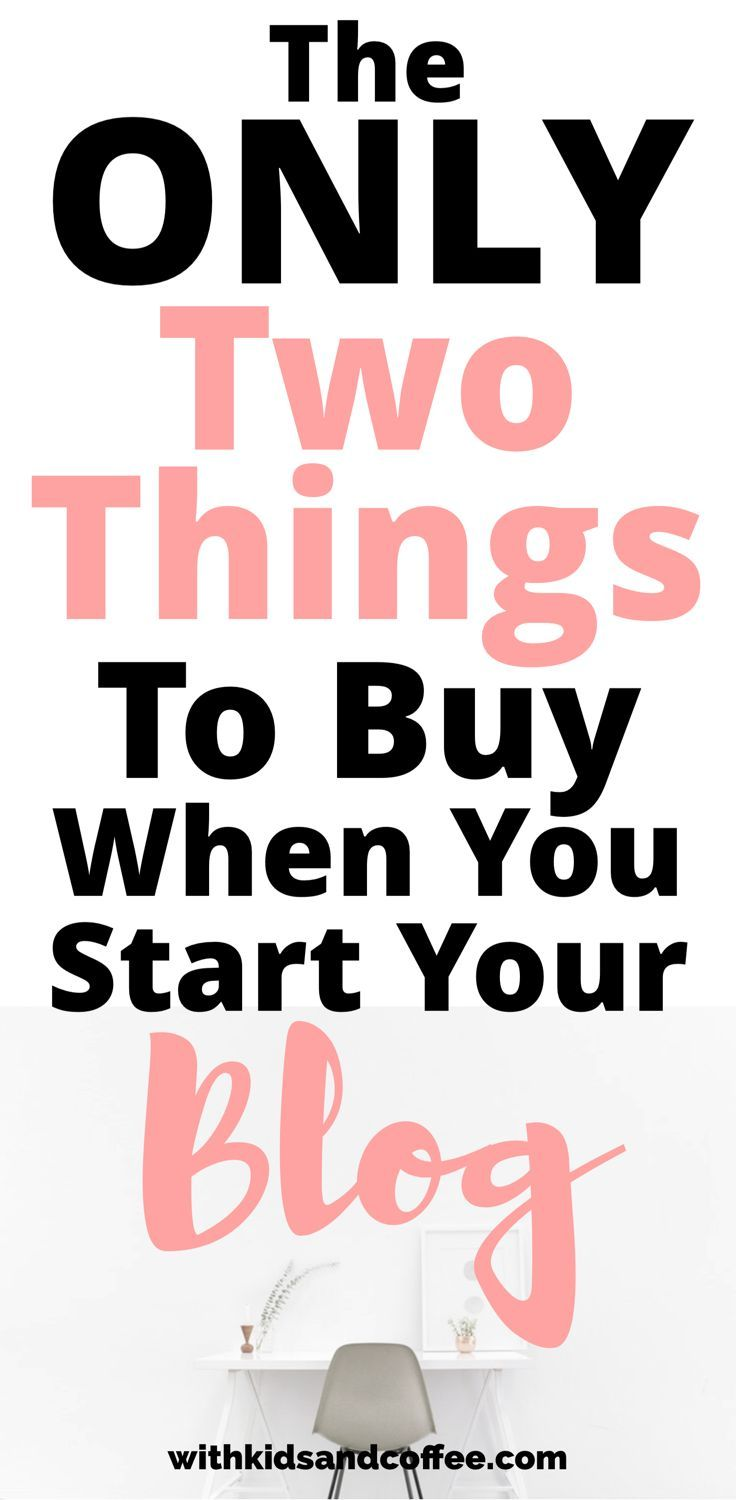 What to Buy Start a Blog   When you are starting a blog, figuring out what to spend money on is tricky. These are the only essentials that you need to buy when you start a blog (and where to get free blogging resources for everything else). There are so many free things for bloggers that you can use to grow your blog until you make money blogging.