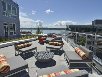 This apartment deck has an amazing view! Arthouse - Elliott Ave | Seattle, WA Apartments for Rent | Rent.com®