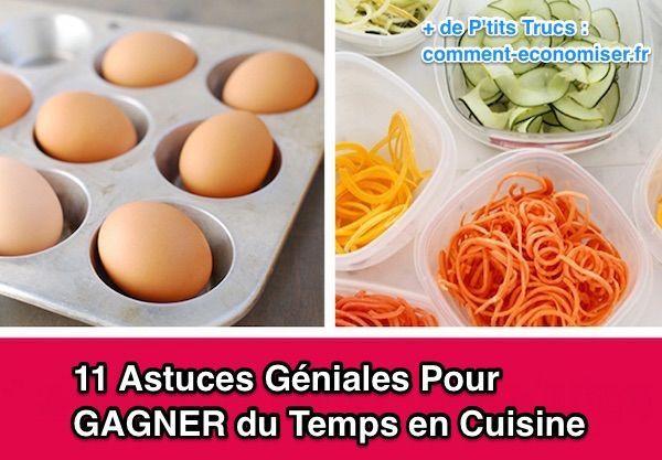 11 Astuces Géniales Pour GAGNER du Temps en Cuisine.