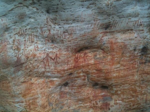 Aboriginal Rock paintings grampians Billimina shelter. thousands of years old. Amazing & humbling to see