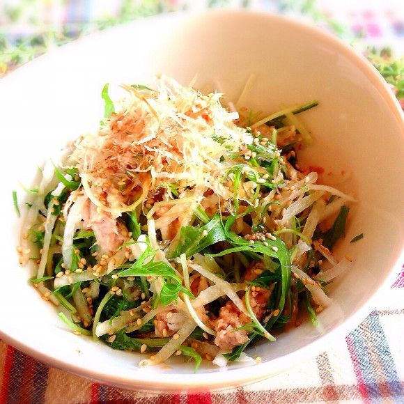 レシピあり!大根と水菜とツナのオカポンサラダ | akoさんのお料理 ...