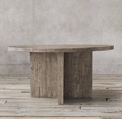 Russian Oak Plank Reclaimed Grey Oak Rectangular | Restoration Hardware    Bfast Table Option