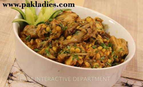 Make your delicious daal chicken with this easy and quick Channa Daal Chicken Recipe by Shireen Anwar and serve with naan.