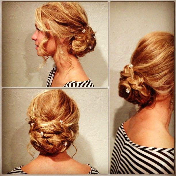 loose braid up-do