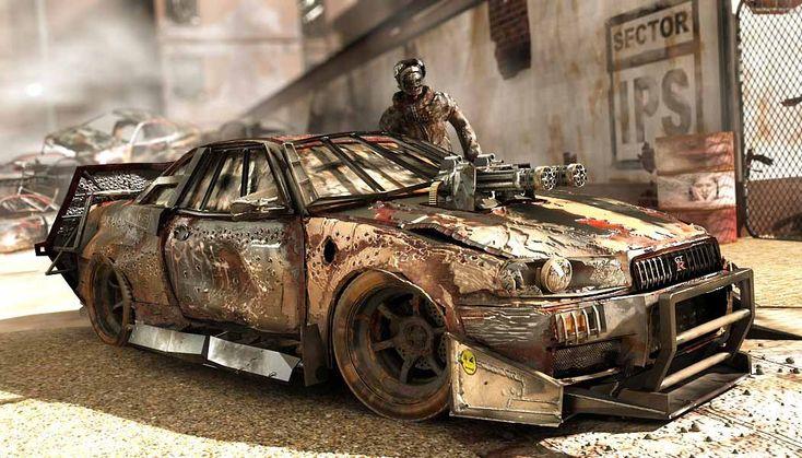 Artstation Skyline Deathrace Rhangga Putra Apocalypse Pickup
