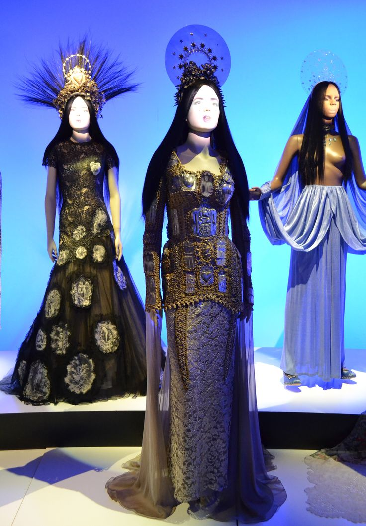 Gaultier. Middle Dress is one of my favorite in this group. Photo does not pick up on all the details.