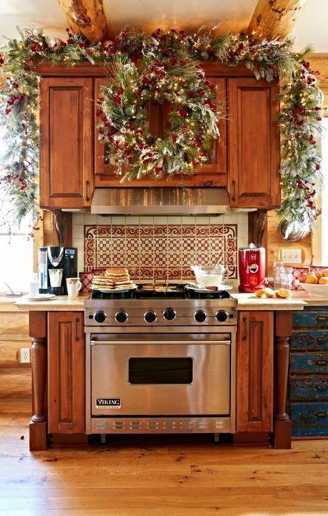 Christmas Kitchen Decorating Ideas #christmashomedecoronabudget