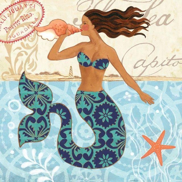 mermaid shell art | Mermaid Shell by Jennifer Brinley