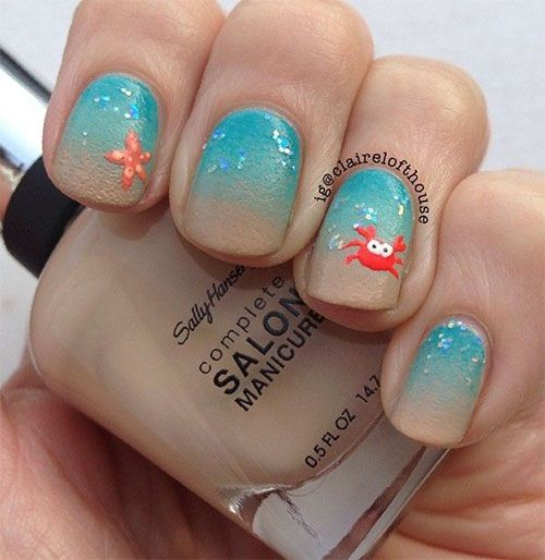 Image via summer nail art designs 2015 | 18 Beach Nail Art Designs Ideas Trends Stickers 2015 Summer Nails