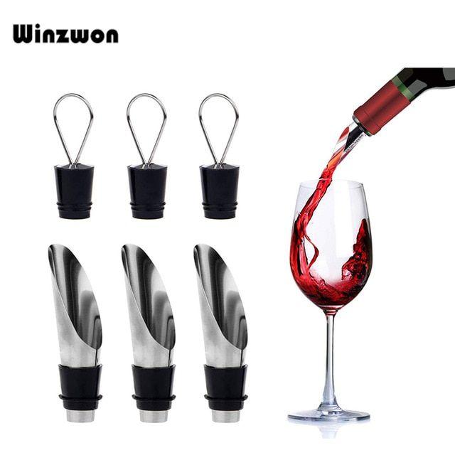 5x Wine Bottle Pourer For Restaurants Hotel Bar Cafe Party Pour Spout Stopper