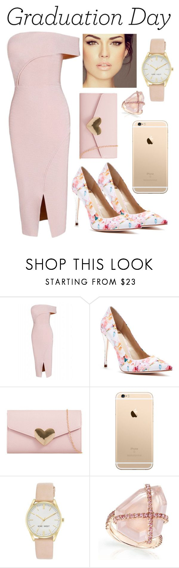 """Graduation Day "" by iamliksen ❤ liked on Polyvore featuring GUESS by Marciano, Nine West, Graduation and lovefashion"