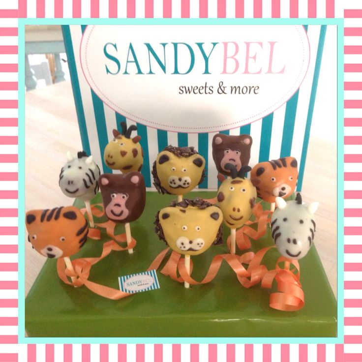 Sandybel's kleiner Zoo #cakepops #sandybel #zoo #animals #nürnberg #sweets #fürth