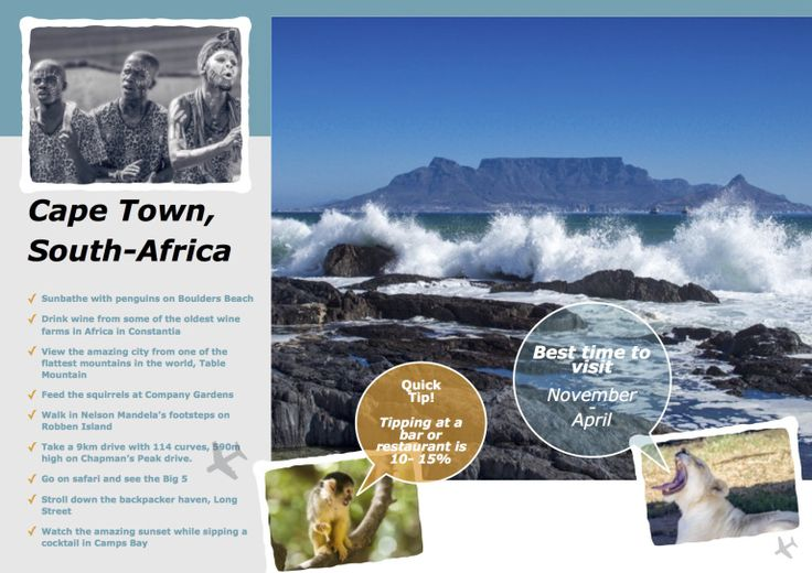 Cape Town Travel guide. See what this amazing city has to offer. This travel guide will tell you all you need to know to visit this amazing city. #capetown #cape town #trave #south-africa #photography #south-african #travelphotography #trabelmountain #constantia #wine #winetasting #food #foodie #africa