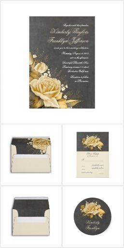 Vintage Roses Chalkboard Wedding Collection