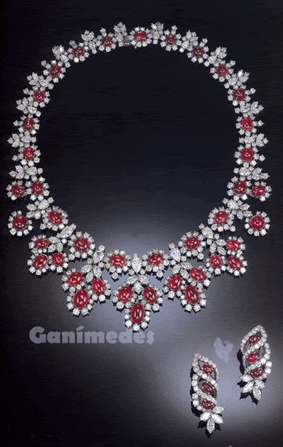 Harry Winston Rubies Amp Diamonds Necklace And Earrings