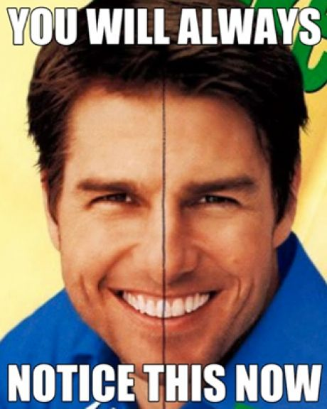 Once you've seen it, you will never look at Tom Cruise the same way again