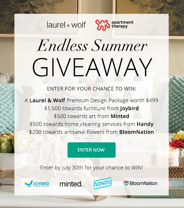 Laurel U0026 Wolf + Apartment Therapyu0027s Endless Summer Giveaway!