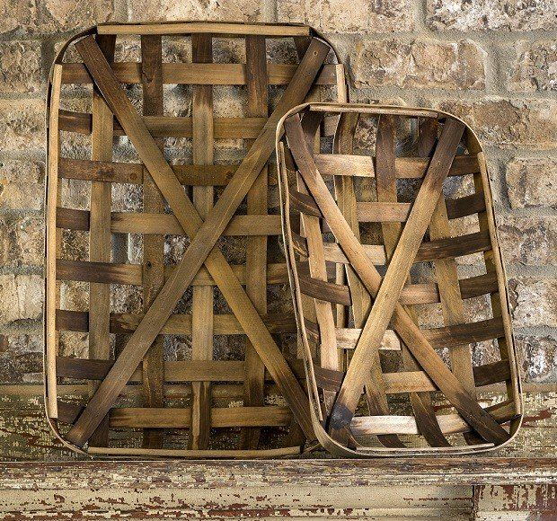 Tobacco Baskets Antique Farmhouse I want some of these!!!!  GOT IT!