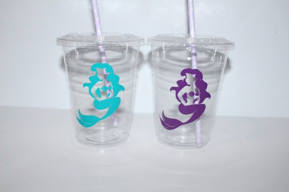 little mermaid party favor//disney little by ohsoaudreycreations