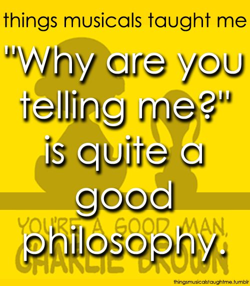 You're A Good Man Charlie Brown  ~ Things Musicals Taught Me @Maggie Shermoen