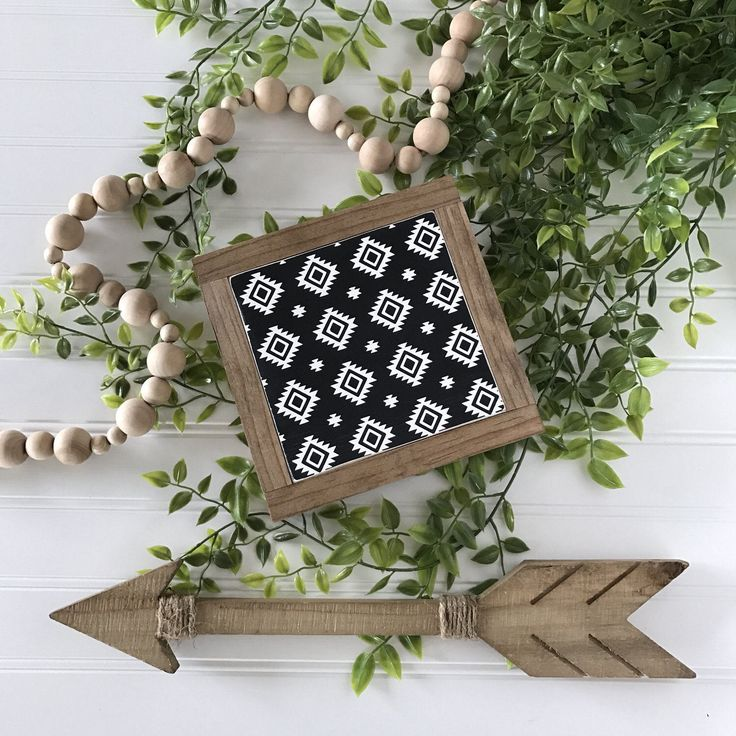 "7""x7""   aztec tribal pattern   framed wood sign   farmhouse decor https://www.etsy.com/listing/516920805/7x7-aztec-tribal-pattern-framed-wood"