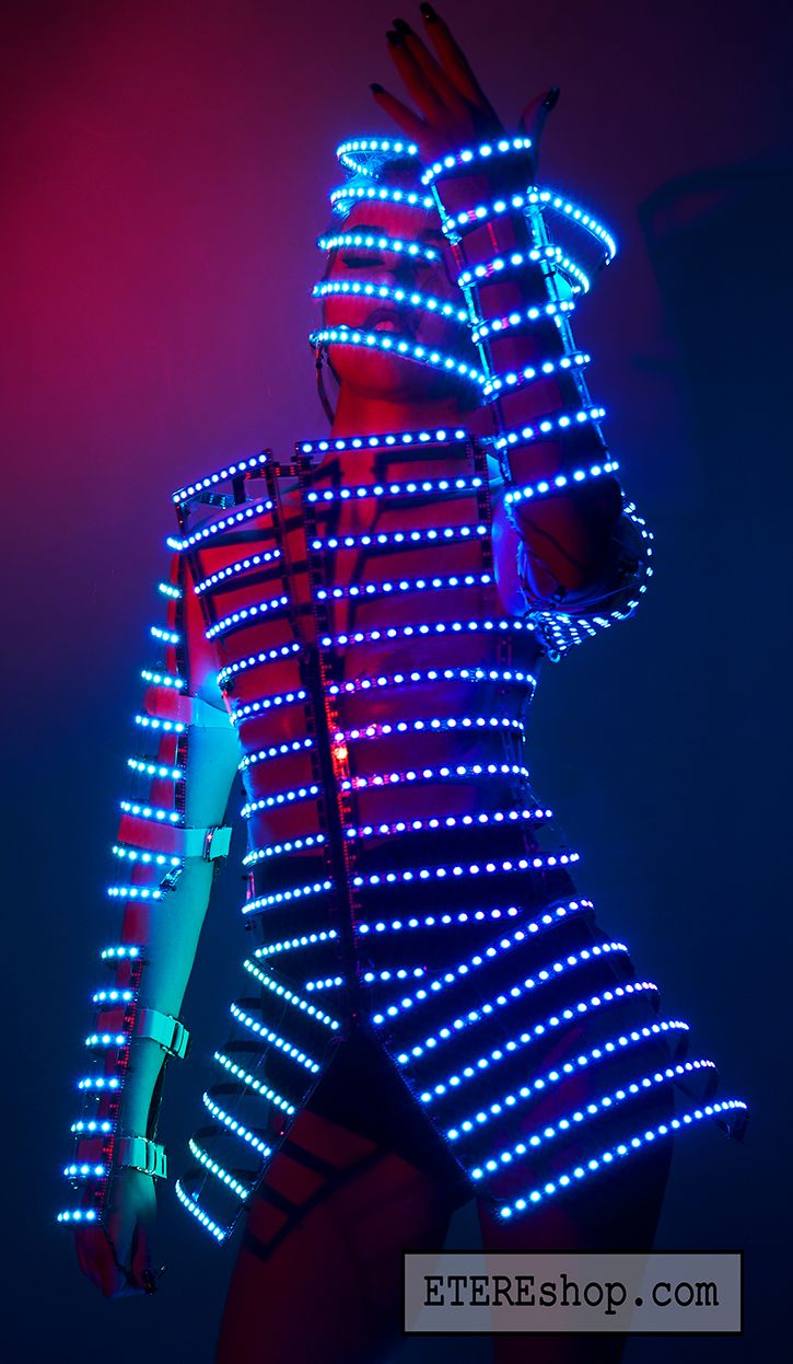 Rave Led Light Up Rainbow Cage Costume Outfit Do Maru Fashion
