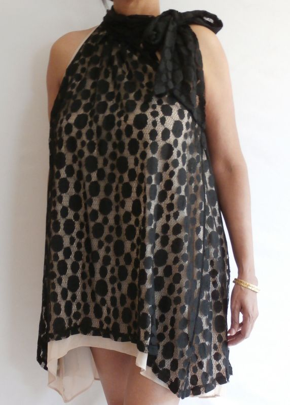 Black Lace/Side Bow Dress