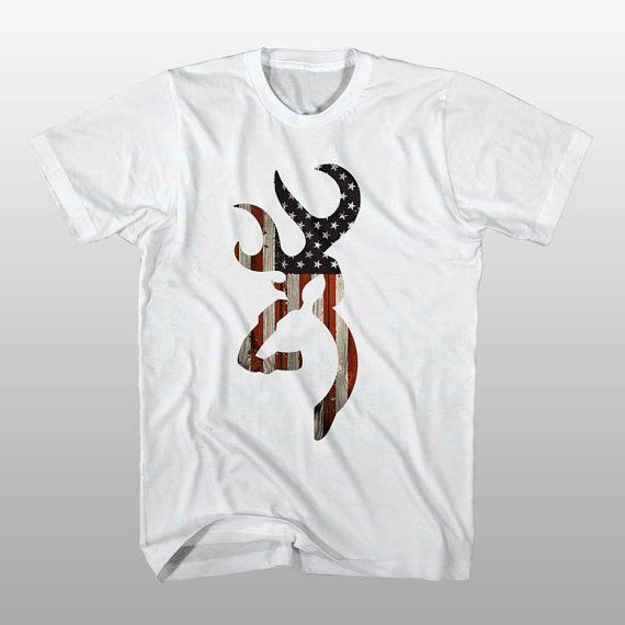 browning deer american flag T Shirt Mens S5XL and T by bepejiis, $17.99